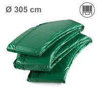 Ampel 24 Trampolin Randabdeckung Deluxe passend für Ø 300 bis 305 cm bei Außennetz, dicker Schutzrand reißfest und UV-beständig, Federabdeckung grün