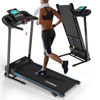 Kinetic Sports KST2900FX Laufband klappbar| 750 Watt leiser Elektromotor | Extra breite 40 cm Lauffläche| 16+1 Trainingsprogramme | Geh- und Lauftraining | LCD Display | bis 10 km/h | bis 120 kg