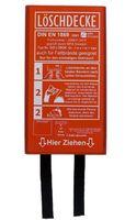 Löschdecke 1 x 1 m in einer roten Box, DIN EN 1869:2001, auch für Fettbrände Fettbrand Küche Brandschutzdecke Feuerlöschdecke Auto 100 x 100 cm (1 Stück Box rot)