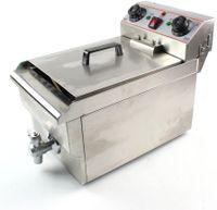 10L Friteuse Fritteuse-elektro 3000W Edelstahl Friteuse Gastronomie Elektro Fritteuse Kaltzonen