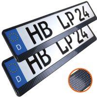 2 x Kennzeichenhalter Carbon Nummernschildhalter Kennzeichenhalterung