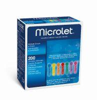 MICROLET Lanzetten farbig 200 Stück Blutlanzetten für den Diabetikerbedarf