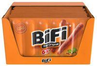 BiFi Original Salami 20 x 6 x 22,5 g Geräucherte Mini Wurst Fleischsnack