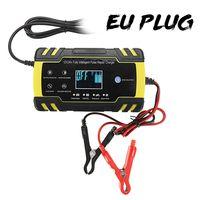 Intelligentes 12V/24V Auto Batterieladegerät KFZ Akku Ladegerät  ow MX Yellow EU PLUG 3 Stage Charge
