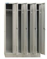 ADB Metall - Spind 4 türig, 190 x 120 x 50 cm