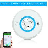 Smart Rauchmelder WIFI + APP Feuer Rauch & Temperatursensor Smart 2 in 1 Funk Rauchmelder Alarm APP Fernbedienung Home Security Alarm System PA-438W