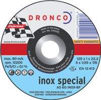 Dronco Trennscheibe INOX, Ø 230 mm, Stärke 1,9 mm, gekröpft