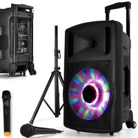Schwangere LIVE-Mobile DJ PA 700W LED FOOT FUZZY12BT Batterie Karaoke Party 2 MICROS 12 USB SD Bluetooth ABEND Familie Kind