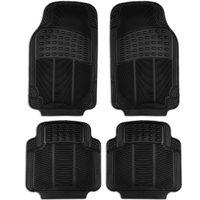 Auto Fußmatten Gummi | 4 Universal Fussmatten für Vorne & Hinten in Schwarz | Gummimatten Set | Kfz Automatten Teppiche Upgrade4cars