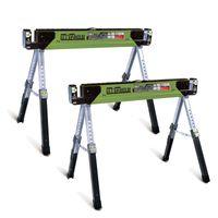 TrutzHolm® 2x Stahl Sägebock Arbeitsbock höhenverstellbar bis 590/1180 kg klappbar Werkbock