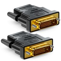deleyCON 2x HDMI zu DVI Adapter - HDMI Buchse zu DVI Stecker (24+1) (19pol) 1920x1200 1080p - Schwarz