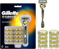 Gillette Fusion 5 Proshield Apperat und 9 Klingen