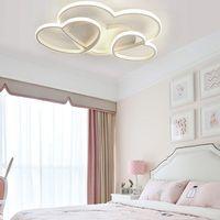 LED Modern Deckenleuchte Liebe Herz F/örmiges Design Kronleuchter Warme Romantische Deckenlampe Einfache Acryl Deckenlicht Esszimmer Schlafzimmer K/üchen Flur Lampen,Braun,3000k//55cm(32W