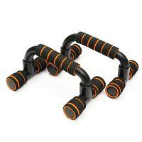 Liegestützgriffe Liegestütz Griffe Fitness Push up bar Schwarz Orange UK