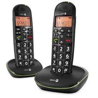 Doro Phone EASY 100W DUO Strahlungsarmes Schnurlostelefon, Rufnummernanzeige, 10h Sprechzeit, 4 Tage Standby, Freisprechfunktion, DECT
