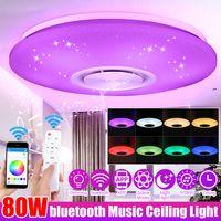 Dimmbare 60W LED RGBW bluetooth Musik Deckenleuchte APP Fernbedienung Schlafzimmer