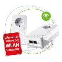Devolo Magic 2 WiFi next Starter Kit 2400 Mbit/s Eingebauter Ethernet-Anschluss WLAN Weiß 2 Stück(e)