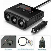 12/24V KFZ-Verteiler Ladeadapter Zigarettenanzünder USB-Anschlüsse LED-Voltmeter