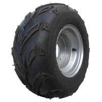 Komplettrad Felge mit Reifen 3-Loch 16x8-7 silber rechts Quad ATV Kinderquad