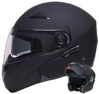 Klapphelm 109 Motorradhelm Helm Größe L Integralhelm Rollerhelm schwarz matt