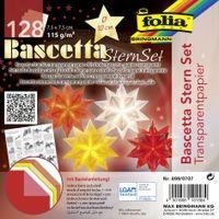 folia Faltblätter Bascetta-Stern 75 x 75 mm transparent 128 Blatt
