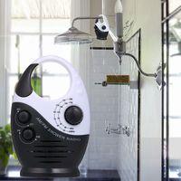 Badewanne f/ür Badezimmer wasserdicht FM-AM zum Aufh/ängen Duschradio zum Aufh/ängen Schwarz tragbar leistungsstarke Hi-Fi-Lautsprecher Mini-Radio funkbetrieben