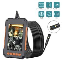 Industrielles Endoskop 1080P HD 8 mm Inspektionskamera 4,3 Zoll LCD Bildschirm Schlange Camer mit LED-Licht halbstarres Kabel, 32G TF Karte für Auto, Motor, Abflussüberprüfung (8 mm, 5m)