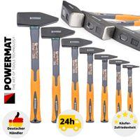 Schlosserhammer 7 tlg. Hammer Profi Hammerset 2000 1500 1000 800 500 300 200 100 Werkstatt Fiberglass