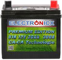 30Ah Batterie Rasentraktor Aufsitzmäher 12V U1R Plus Rechts Electronicx