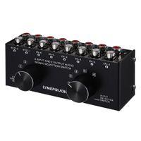RCA Audio Signalumschalter Wählschalter Auswahlbox Cinch-Umschalter mit 6 Eingängen 2 Ausgängen