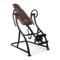 Klarfit Relax Zone Pro Inversionsbank Hang-Up-Rückentrainer Rücken-Bank (zur Streckung der Wirbelsäule, bis 150kg, verstellbar, für alle Altersgruppen, leichte Montage) orange-schwarz