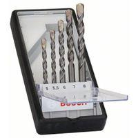 Betonbohrer-Robust Line-Set CYL-3, Silver Percussion, 5-teilig, 5 - 8 mm