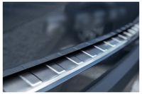 Ladekantenschutz mit Abkantung für Seat Arona 6P Edelstahl ab Bj. 2017-, Farbe:Silber