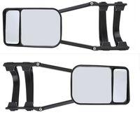 2 Stück Caravanspiegel PKW Spiegel Universal Duo Wohnwagenspiegel Aufsetzspiegel