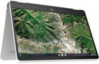 HP Chromebook x360 14a-ca0217ng 35,56 cm (14 Zoll) HD Touch 2in1 Convertible Laptop, Intel Celeron N4020, 4GB LPDDR4 RAM, 64GB eMMC, Intel UHD Grafik, Chrome OS, QWERTZ, weiß