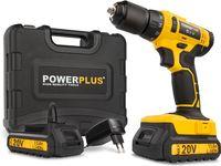 Powerplus POWX00435 Akku-Bohrer - 20 V Li-Ion - inkl. 2 Batterien - inkl. Werkzeugkoffer