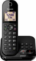 Panasonic Festnetztelefon KX-TGC420, Anrufbeantworter, Farbe: Schwarz