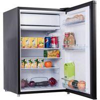 COSTWAY Kühlschrank mit Gefrierfach Minikühlschrank Standkühlschrank Kühl-Gefrier-Kombination Hotelkühlschrank 122L