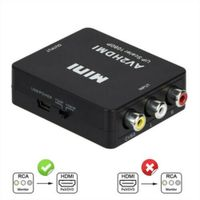 Cinch AV / HDMI Konverter / Adapter für Gamecube Nintendo Sega Gene NES SNES N64@#