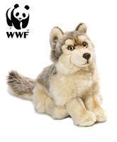 Plüschtier Wolf (25cm, sitzend) lebensecht Kuscheltier Stofftier