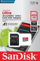 SanDisk Ultra - 400 GB - MicroSDXC - Klasse 10 - UHS-I - 100 MB/s - Class 1 (U1)