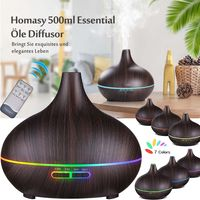 Elektrisch 7 Farben LED Ultraschall Luftbefeuchter 500ml Aroma Diffuser Aromatherapie Duftlampe Öle Diffusor
