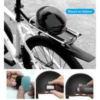 Smart Bike R/ücklicht USB Wiederaufladbare Fahrrad Heckleuchte 64 LED Fahrrad Heckleuchten Sicherheitswarnleuchte Auto Sense Fahrrad Blinker Passt auf Jedes Rennrad