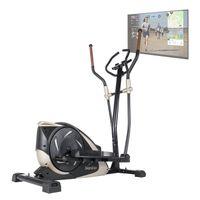 Skandika Crosstrainer Adrett mit Video Streaming Funktion Kinomap | bis 130 kg belastbar | Bluetooth | App-Steuerung