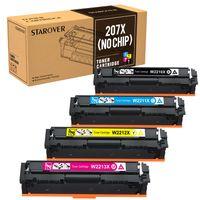 207X XXL Toner Kein Chip kompatibel HP 207X für HP Color LaserJet Pro MFP M283fdw M283fdn M255dw, W2210X W2211X W2212X W2213X