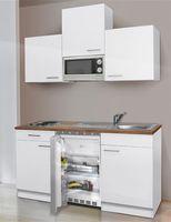 Küchenblock / Kleinküche Respekta mit Geräten 150cm weiß