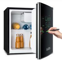 Klarstein Spitzbergen Aca - kompakter Mini-Kühlschrank, Getränkekühlschrank, 40 l Fassungsvermögen, , 40 L, 2 Ebenen, 2 Türfächer, beschreibbare Kühlschranktür, schwarz