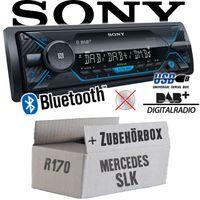 Autoradio Radio Sony DSX-A510BD - DAB+ | Bluetooth | MP3/USB - Einbauzubehör - Einbauset für Mercedes SLK R170 - JUST SOUND best choice for caraudio