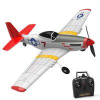 Eachine Mini Mustang P-51D EPP 400 mm Spannweite 2.4G 6-Achsen Gyro RC Flugzeug Trainer Starrflügel RTF One Key Return für Anfänger - Zwei Batterien
