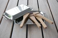 Premium Grillpfännchen-Set mit Schabern 2-er Set Raclette Grillkäse